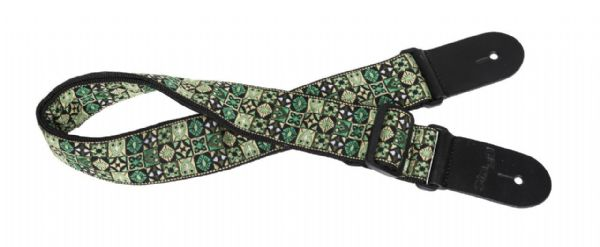 Stagg Guitar Strap, Hootenenny Green Mix